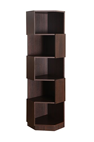 Corner Display Case (Furniture of America Bassey 5-Shelf Bookcase Display Stand, Espresso)
