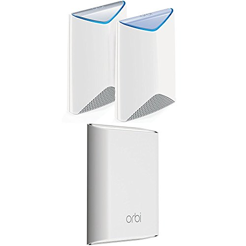 Price comparison product image NETGEAR Orbi Pro Business Mesh WiFi System with 2 Outdoor Satellites - AC3000 Tri-band, Covers up to 5,000 sqft indoors & 5,000 sqft outdoors, Replaces Access Points, No complicated wiring, Business Traffic & Network Separation (SRK60 + RBS50Y x 2)
