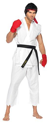 SALES4YA Mens Street Fighter Ryu Adult Costume Medium-Large Mens Costume