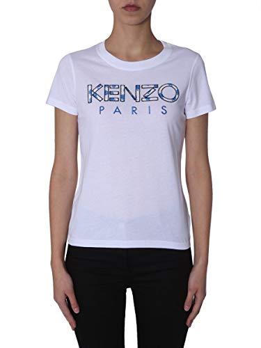 T Femme Blanc shirt Kenzo F952ts72199001 Coton q7wPwnI6