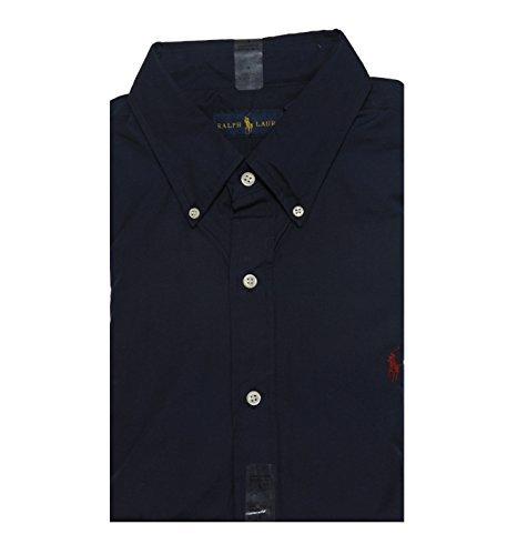 RALPH LAUREN Long Sleeve Classic Fit Mens Shirt  Windsor Navy  - Ralph Lauren Classic Shirt Fit
