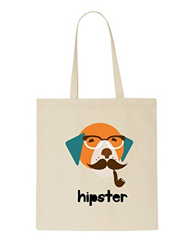 Bag Character Vintage Hipster Beige Dog2 Tote Animal Quote Style Shopper Text OTwx8