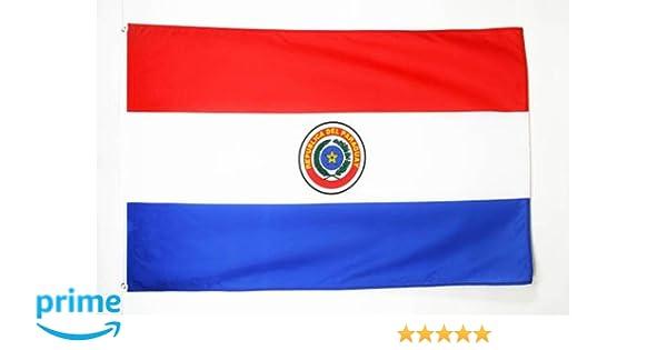 AZ FLAG Bandera de Paraguay 150x90cm - Bandera PARAGUAYA 90 x 150 cm