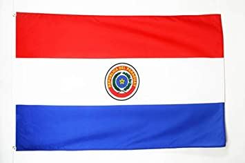 AZ FLAG Bandera de Paraguay 150x90cm - Bandera PARAGUAYA 90 x 150 cm poliéster Ligero