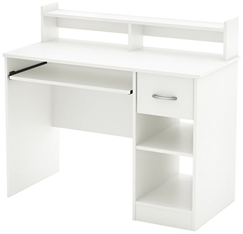 South Shore Axess Desk with Keyboard Tray, White (White Corner Desks)
