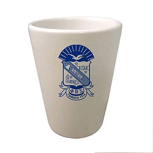Greekgear Phi Beta Sigma Crest Ceramic Collectors Glass Gloss White