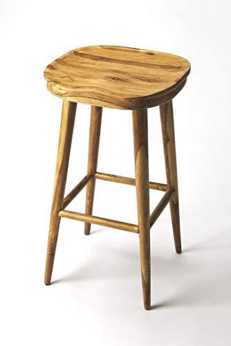 Butler Artifacts Light Brown Rectangular Acacia Wood Solids Richmond Backless BAR Stool (Rectangular Backless Stools)