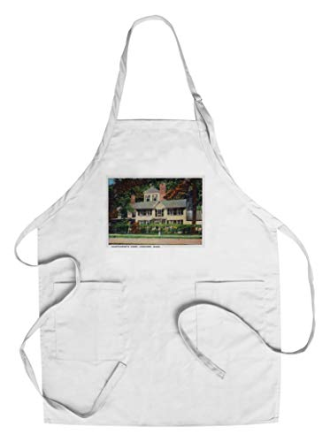 Concord, Massachusetts - Exterior View of Nathaniel Hawthorne's Home (Cotton/Polyester Chef's Apron) ()