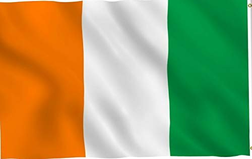 Mikash 5x8 ft Ireland Irish Flag Rough Tex Knitted 5x8 Banner Super Printed Polyester | Model FLG - 3412