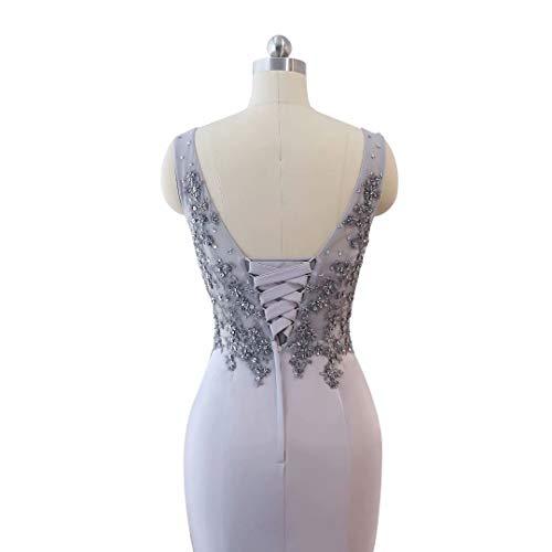 Party Frauen Mermaid Ausschnitt Lange V Formale Abendkleid Doppel 15 Kleider RqrrYd0xw