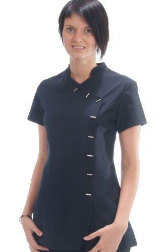 Simon Jersey Women's Oriental Style Beauty & Spa Tunic 10 (Uk 12) Black