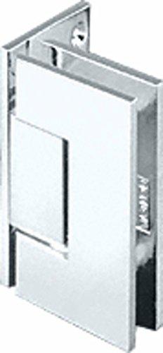 CRL Geneva 044 Series Chrome Wall Mount Offset Back Plate Hinge