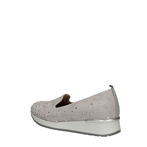 R20010 ACCIAIO Scarpa donna Melluso slip-on pantofolina pelle made in Italy