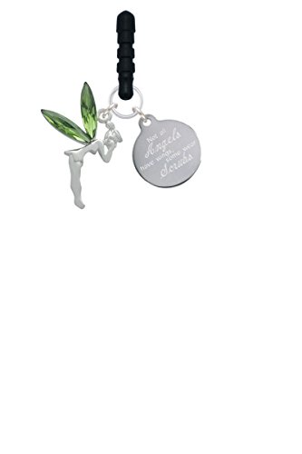 Large Fairy with Lime Green Wings Angels Wear Scrubs Phone Charm -