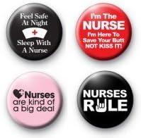Nurse Graduation Gift Funny Nurse Gift Nurse Locker Decor Nurses Rule Pin or Magnet Set Gift for Nurse or Nursing Student
