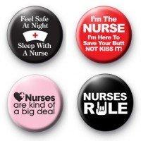 amazon com set of 4 nurse nursing funny comedy magnets