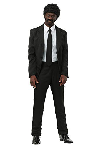 Mens Pulp Fiction Suit Costume Large Black -