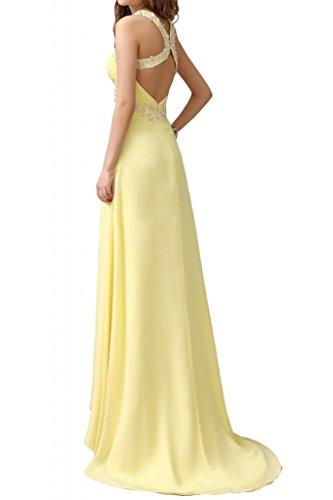 Por la noche la gasa nupcial elegante Rueckenfrei Toscana vestidos de madrinas de largo punta aplicación bola vestidos de fiesta morado