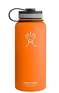 Hydro Flask Insulated Stainless Steel Water Bottle, Orange Zest, 40-Ounce