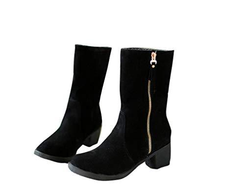Libero Libero Tempo Pioggia Stivali Stivali Stivali da YUCH Grandi Donna Dimensioni Il Neve Stivali da Black 39 per per Marrone vq0dwP4q