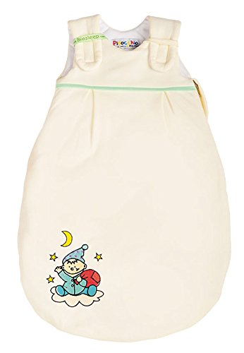 BIOS Aerosleep - Saco de dormir para bebé en color crudo con el gnomo Stick beige beige Talla:50/56: Amazon.es: Bebé