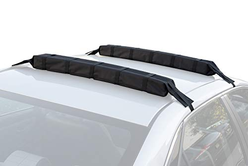 Universal Car Soft Roof Rack Pad & Luggage Carrier Anti-vibration System - Includes 2 Waterproof Tie Down Straps + Storage Bag