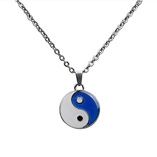 Mood Necklace Yin Yang Change Color Emotion Feeling Pendant Necklace with Gift Box