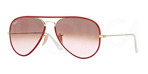 Ray-Ban AVIATOR FULL COLOR - ARISTA Frame PINK GRADIENT BROWN PHOTO Lenses 58mm - Custom Color Sunglasses