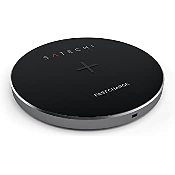 Satechi Qi-Certified Aluminum Wireless Charger for iPhone X, iPhone 8 / 8 Plus (AC Adapter Not Included) (Space Gray)