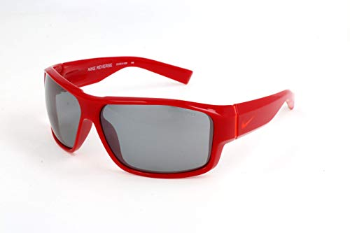 Nike EV0819-606 Reverse Sunglasses (One Size), Gym Red/Hyper Crimson, Grey with Silver Flash Lens