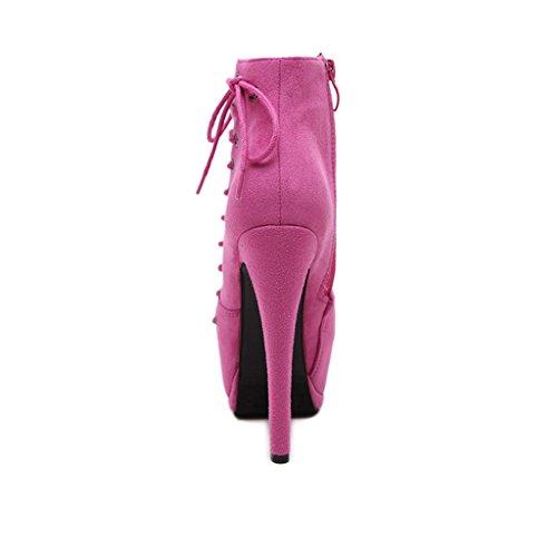 Heels HETAO Temperament Absatz elegante Aufladungs Plattform Frauen Knöchel Martin Persönlichkeit Schuhe Aufladungs warme Winter Schuhe Dame Wölbungs kurze UUqAw5r