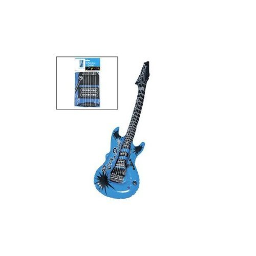 Blue Inflatable Guitar (1 piece) - Oriental Trading Company Star Costumes