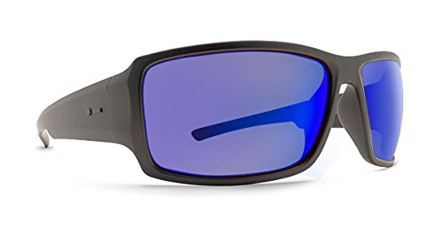 Dot Dash Exxellerator Adult Sunglasses, Soft Charcoal Satin/Blue - Sunglasses Dash