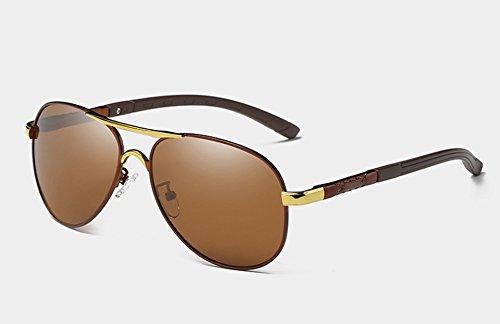 Soleil Sunglasses TL Nuances UV400 Polarisées Les de Hommes brown de Luxe HD pour Lunettes Guide Lunettes de ttdRr7wq