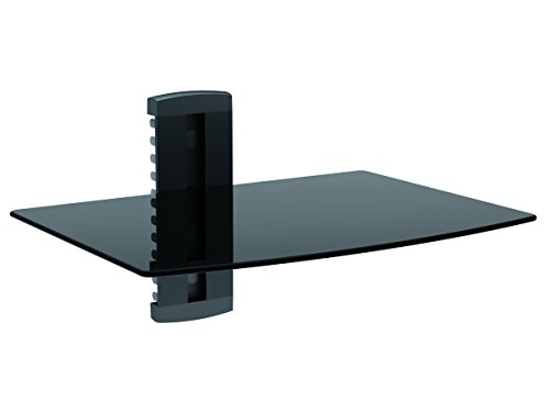 Monoprice Single Shelf Wall Mount for TV Components - Black