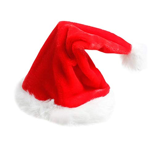 Biback Electric Christmas Hat Red Plush Christmas Music Swing Hat Christmas Innovative Decoration Supplies ()