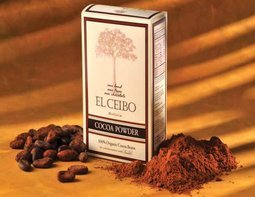 El Ceibo - Bolivia Organic Raw Cocoa Powder 100% pure cacao beans.Unsweetened. Smoothies, Hot Chocolate, Baking, Shakes, Add to Coffee 8.8oz (1 pack)