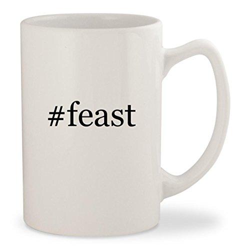 #feast - White Hashtag 14oz Ceramic Statesman Coffee Mug Cup - Nigella Lawson Ceramic