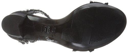 Stuart Weitzman Women's Frayed Heeled Sandal Black 3A1dM1WkLF