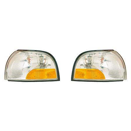 Mercury Villager Turn Signal - Fits 1999-2002 Mercury Villager Pair Driver and Passenger Side Turn Signal/Side Marker Light Lens and Housing Only FO2520158 FO2521158 - Replaces B6115-7B000 B6110-7B000 ;