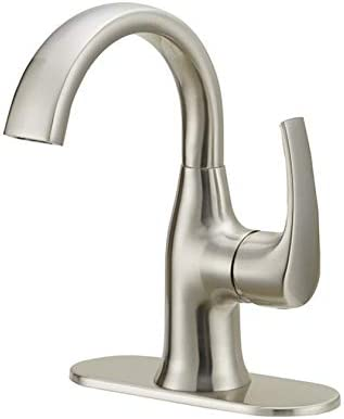 Jacuzzi Lyndsay 0749707 Brushes Nickel Single Handle Faucet