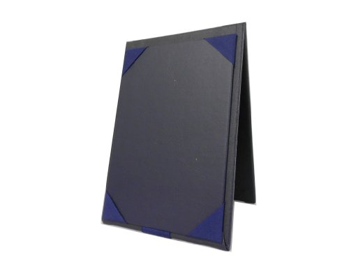UPC 850509004661, Table Tent Leatherette Sign Holder - 4 X 6 Inch Table Display Stand in Navy Blue Sold By Case of 10 Units.