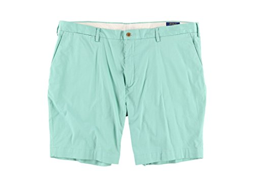 Polo Ralph Lauren Mens Classic-Fit Flat Front Casual Shorts Green 40 by Polo Ralph Lauren