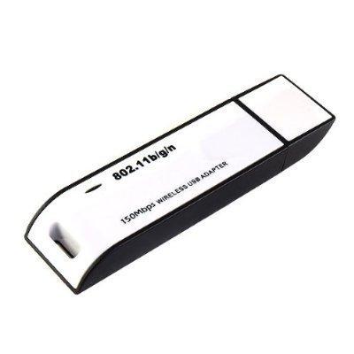(WiFi Wireless IEEE 802.11N/G/B WLAN 150Mbps Network Dongle Adapter USB2.0 Wireless Lan USB Adapter for WiFi Wireless USB Lan Adapter Link for PSP NDS PS3 Wii Laptop Noteook Desktop PC Suport Vista/Windows 7(32bit & 64bit)/Linux)