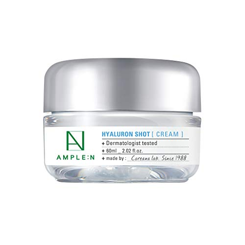 [AMPLE:N] Hyaluron Shot Cream 2.02 fl. oz. (60ml) - Xylitol Complex and Ceramide Contained Moisturizing & Rich Nourishing Cream, Smooth Skin Texture