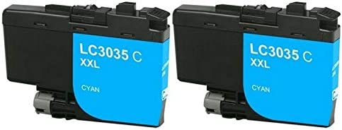 LC-3235XXLC/_2PK SuppliesMAX Compatible Replacement for Brother DCP-J1100//MFC-J805//J815//J995//J1300DW Cyan Ultra High Yield Inkjet 2//PK-6000 Page Yield
