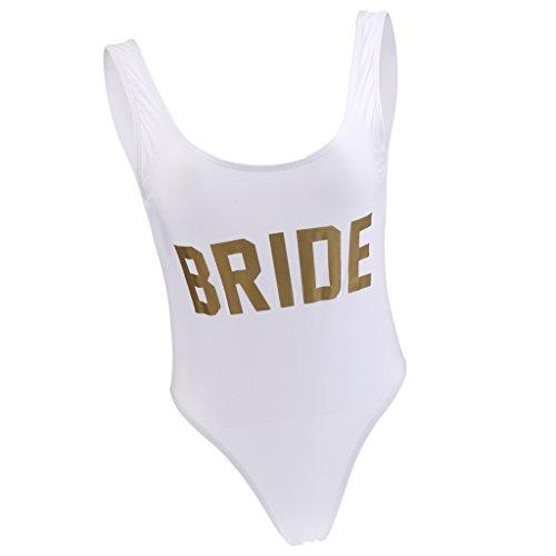 Sposa Bikini Bagno Da Donna da Spiaggia Monokini Costume Baoblaze M Beachwear 1qwBO5