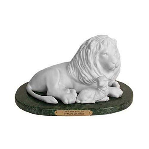 One Moment In Time S45 Lamb and Lion Statue 10.5
