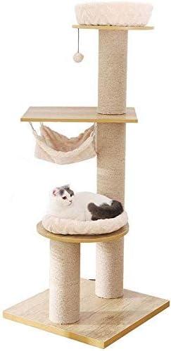 Cat Tree, Cat Tower Cat Condo Estilo Simple Pilar de sisal ...