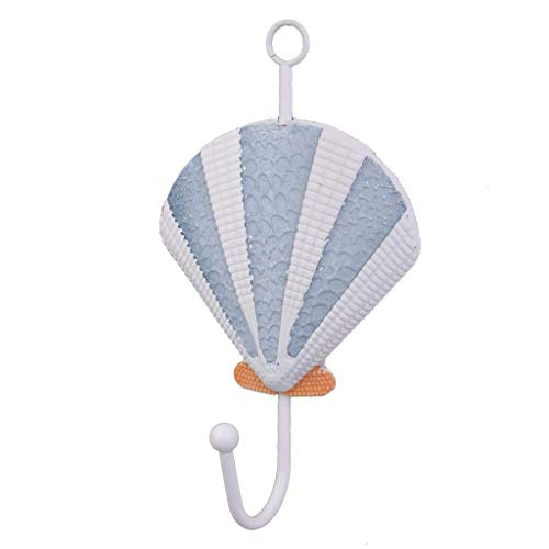Agordo Nautical Seashell Coat Bag Bath Towel Hook Holder Door Wall Mounted Hanger
